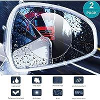 CoWalkers Película de espejo retrovisor a prueba de lluvia Película anti niebla de coche Ventana protectora de la niebla, Película a prueba de lluvia Nano HD Anti-Niebla. Protector de pantalla antirreflejo y antiarañazos para espejo retrovisor (2 pcs)