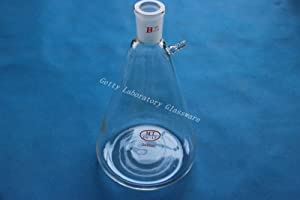 Lab glass 2000ml Vacuum Filter Flask,Filting Flask, 24/40 joint, 10mm side hose connection