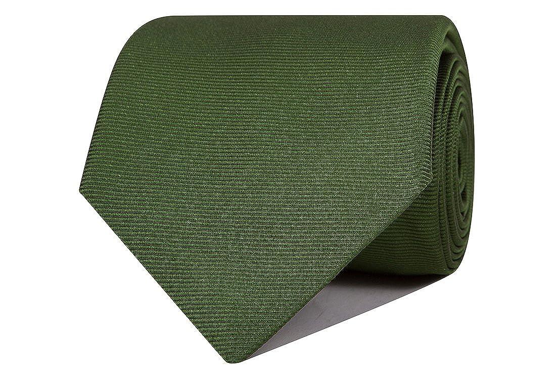 SoloGemelos - Corbata De Seda Lisa - Verde - Hombres - Talla Unica ...