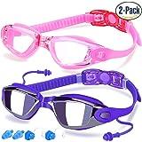 Confezione da 2Occhialini Da Nuoto Nuoto Occhiali Antinebbia Protezione UV per adulti Uomo Donna Ragazzi Bambini made by cooloo