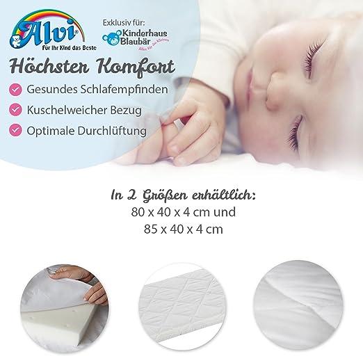 ALVI Babymatratze Komfortschaum Baumwollbezug