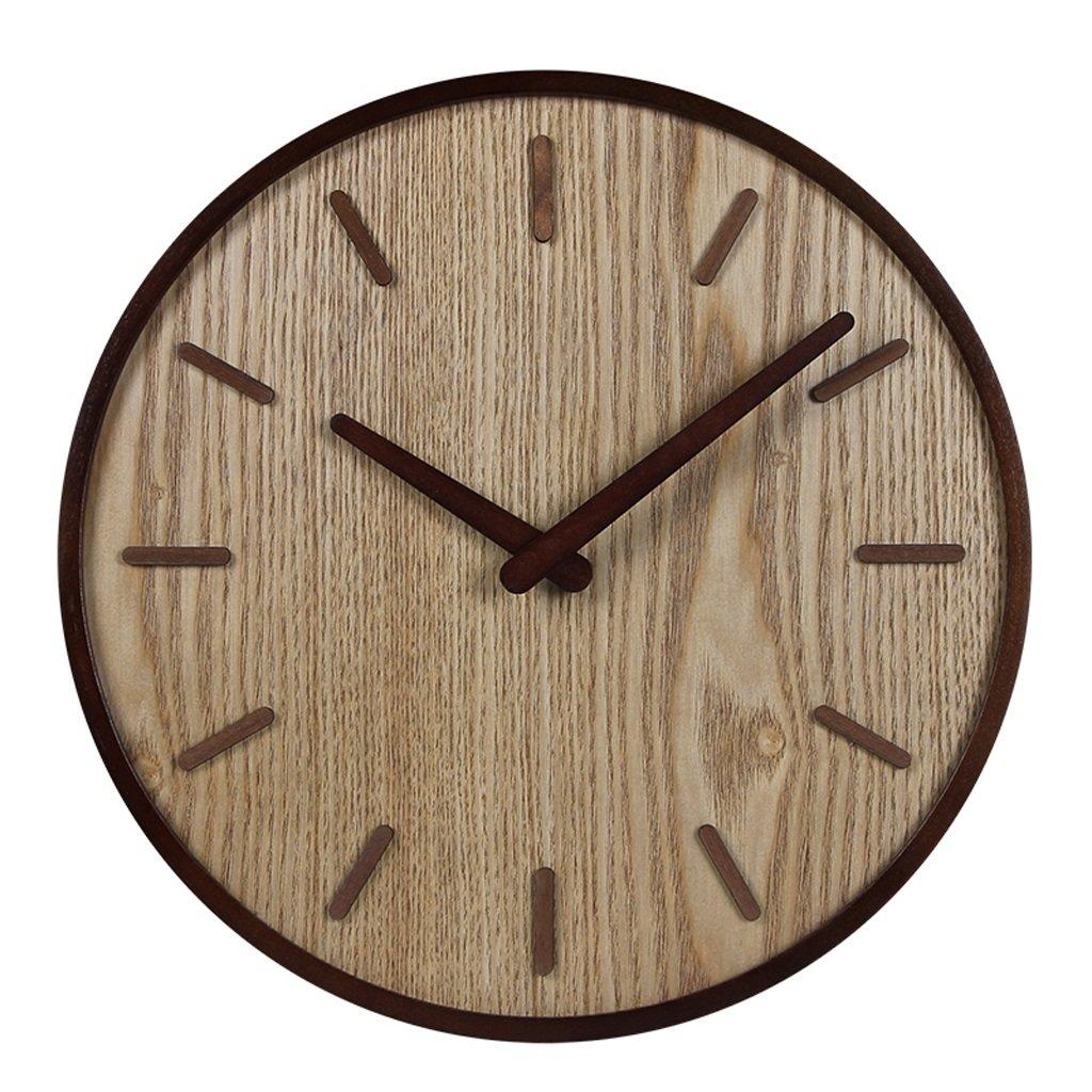 LINGZHIGAN 木製の壁時計ミュートリビングルームオフィス古典的な時計テーブルレトロな中国スタイルのクォーツ時計 (色 : 明色, サイズ さいず : B) B07BVJY1BD B|明色 明色 B
