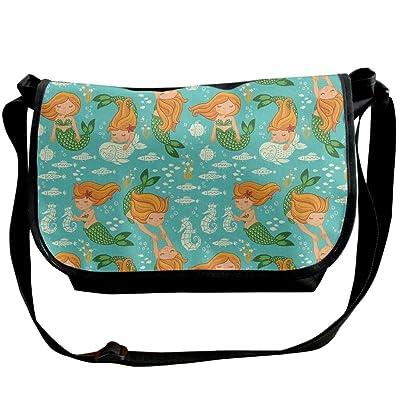Lovebbag Underwater Cartoon World Little Mermaid Girls Friends Seahorse Fish Shells Crossbody Messenger Bag