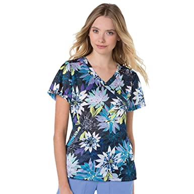 5d7c6d8ed4e Amazon.com: Koi Lite Women's Bliss V-Neck Floral Print Scrub Top X ...
