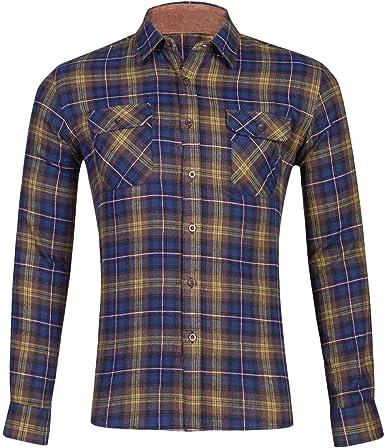 Heetey Camisa Top Moda para Hombres Plaid Business Casual Camisas de Manga Larga Oktoberfest Camisa de Hombre Slim Fit Camisas de Manga Larga con Cuello para Oktoberfest, Business, Ocio: Amazon.es: Ropa y