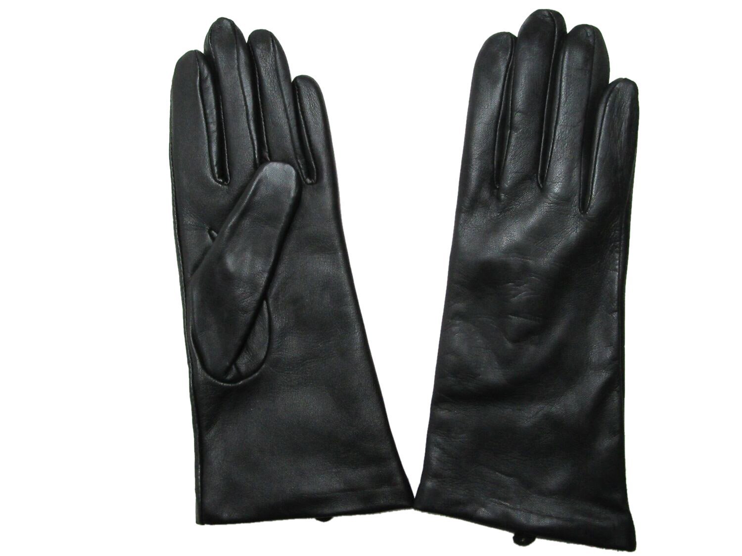 Fownes Women's Cashmere Lined Black Conductive Lambskin Leather Gloves 8/XL by Fownes Brothers (Image #5)