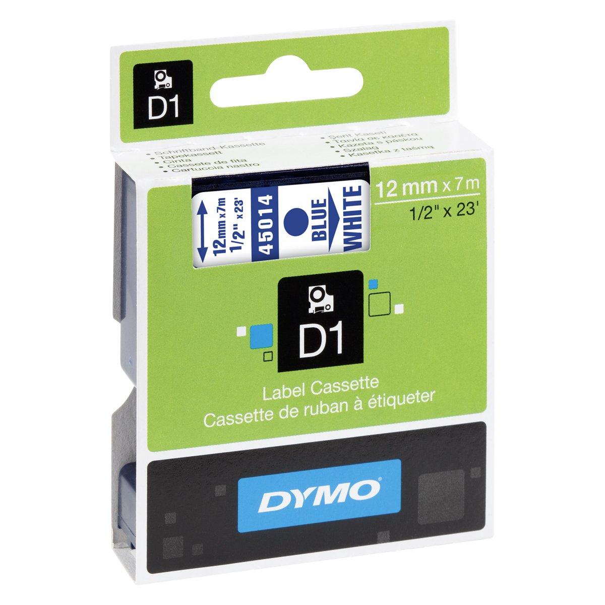Dymo S0720500 D1-Etiketten (Selbstklebend, für den Drucker LabelManager, 12 mm x 7 m Rolle) schwarz auf transparent Dymo-CoStar Corp 45010