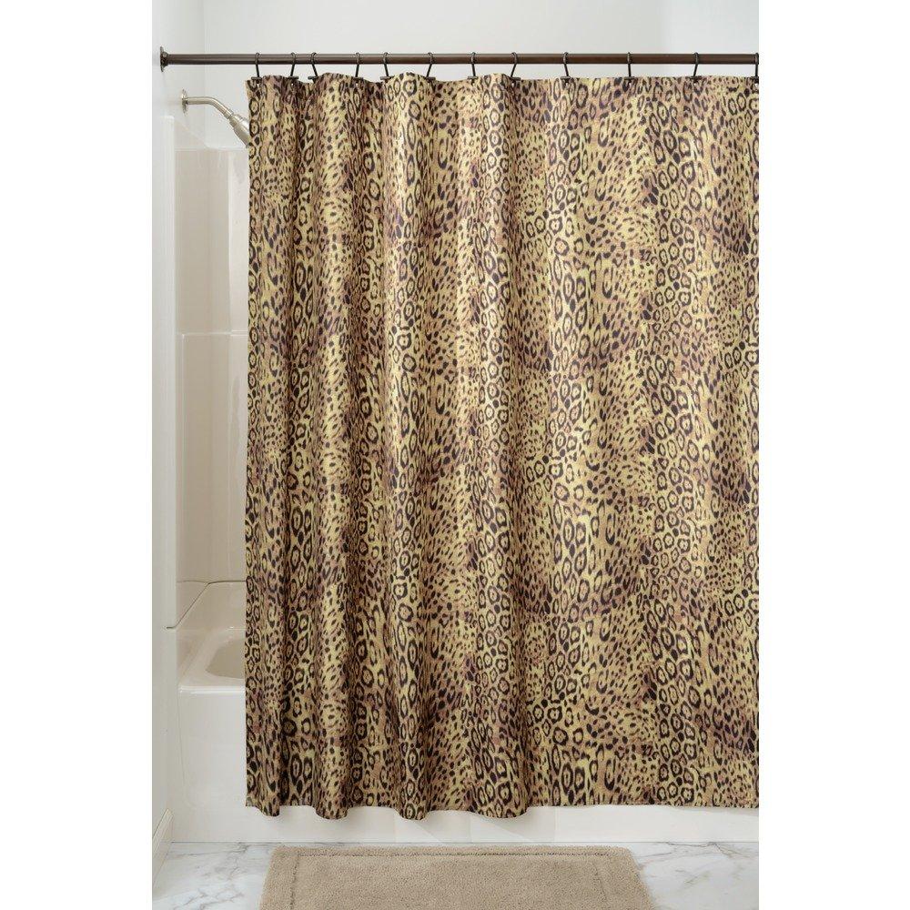 Amazon InterDesign Cheetah Fabric Shower Curtain