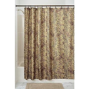 Superior InterDesign Cheetah Fabric Shower Curtain   72 Inch By 72 Inch