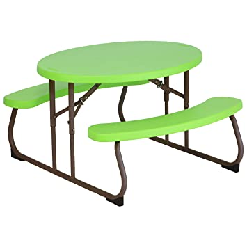 Amazon lifetime 60132 childrens oval picnic table lime green amazon lifetime 60132 childrens oval picnic table lime green garden outdoor watchthetrailerfo