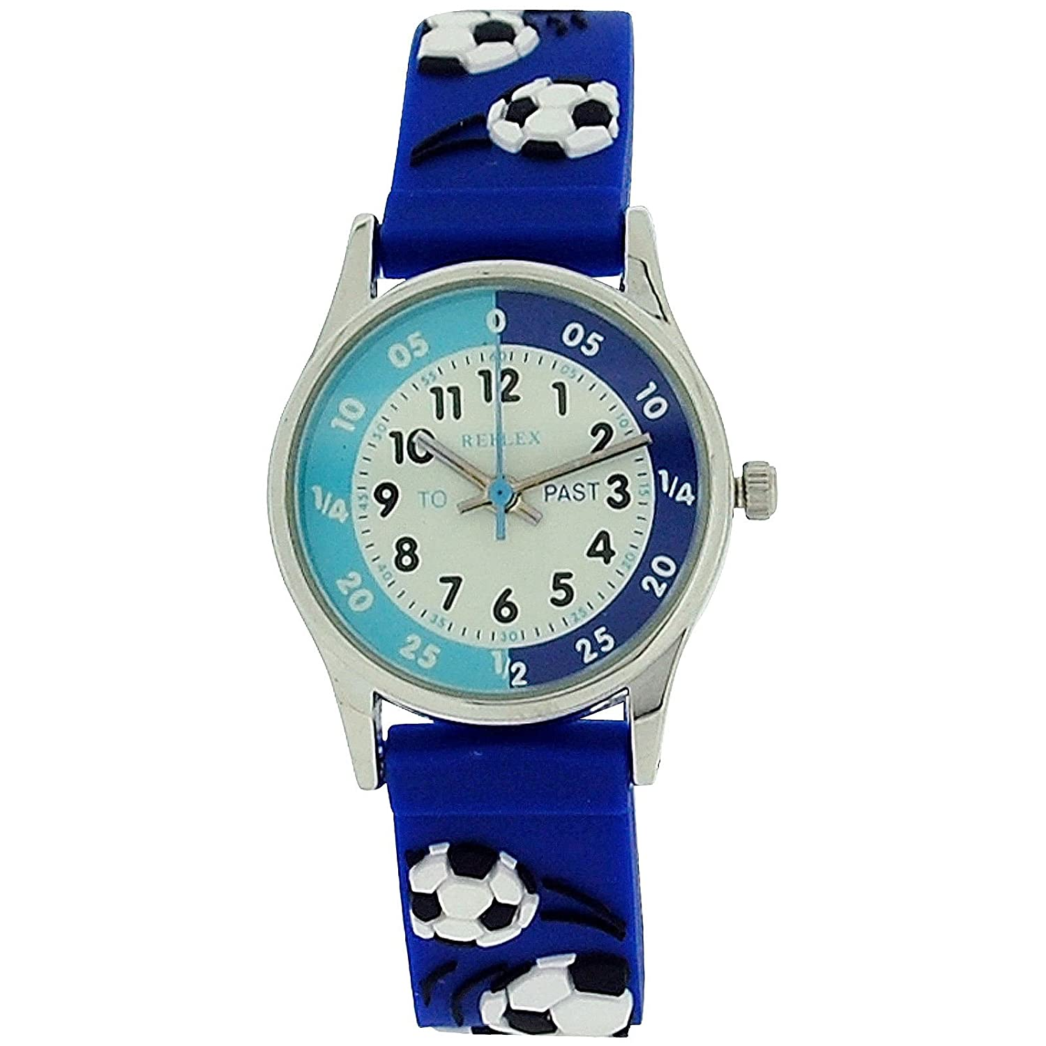 blue watch amazon quartz dp watches leather chronograph s men band tss com