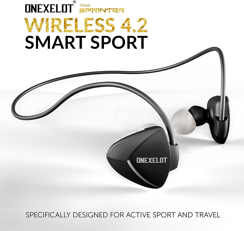 Sprinter Wireless Headphones Sport Bluetooth Earbuds with Microphone Wireless Earphones Sport, Wireless Earbuds for iPhone,Samsung, Android-ONEXELOT