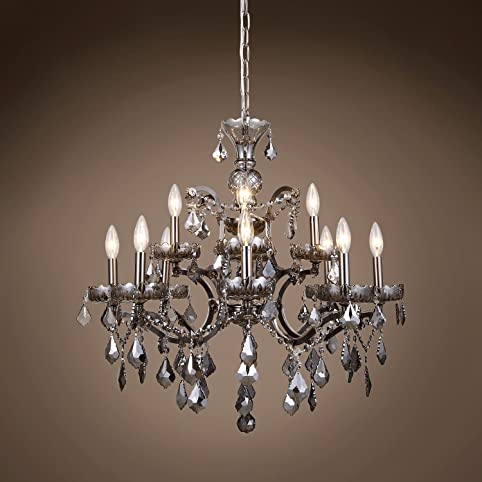 Transitional 19th c rococo chandelier 12 light 26 raw steel rococo chandelier 12 light 26quot raw steel hanging ceiling light with mozeypictures Gallery