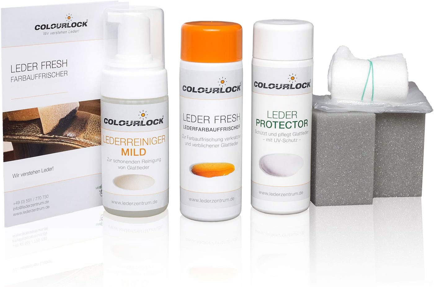 Colourlock Smooth Leather Night Önungs and Care Set Mild