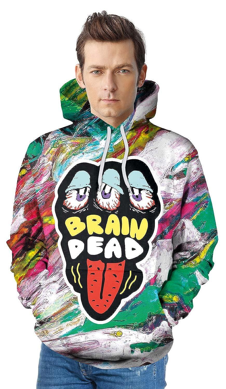 U LOOK UGLY TODAY Unisex Men Women Sweatshirt 3D Digital Printing Funny Hoodie Pullover with Pockets