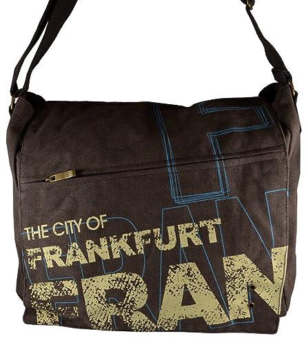 Canvas Umhängetasche/Überschlagtasche Frankfurt in schwarz (Maße: LxHxT 34x28x13 cm Robin Ruth lBOkbo