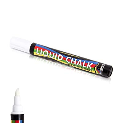 Rainbow Liquid Chalk Marker Pen White - Paint on Chalkboard, Blackboard Wet Erase Washable Colored Pens : Chalkboard Chalk : Office Products