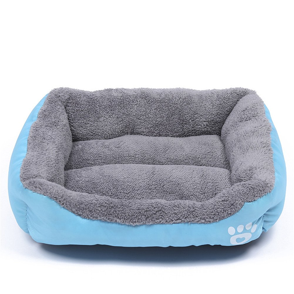 bluee XXL 38\ bluee XXL 38\ LXLP Kennel Doghouse Bed 2017 New Washable Premium Dog and Cat Bed PP Cotton A Puppy and Kitty Dream Beds-Four Seasons Common 12 Colour 6 Size (XXL, bluee)