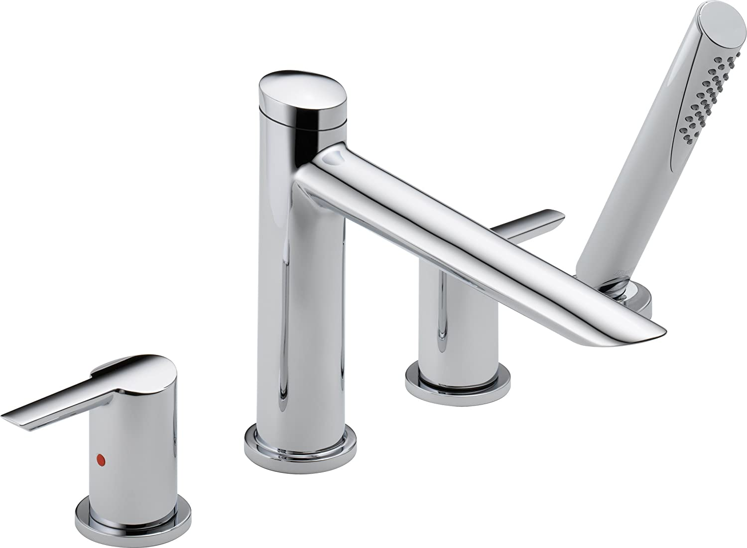 Delta Faucet T4761 Compel Roman Tub with Hand Shower Trim, Chrome ...