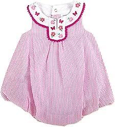 c898dd08faa Crown   IVY Baby Girl s Pink Seersucker Romper