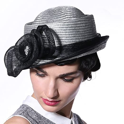 June s Young Summer Women Hats Straw Natural Small Brim 1.5 Inches ... 5d968cb272a