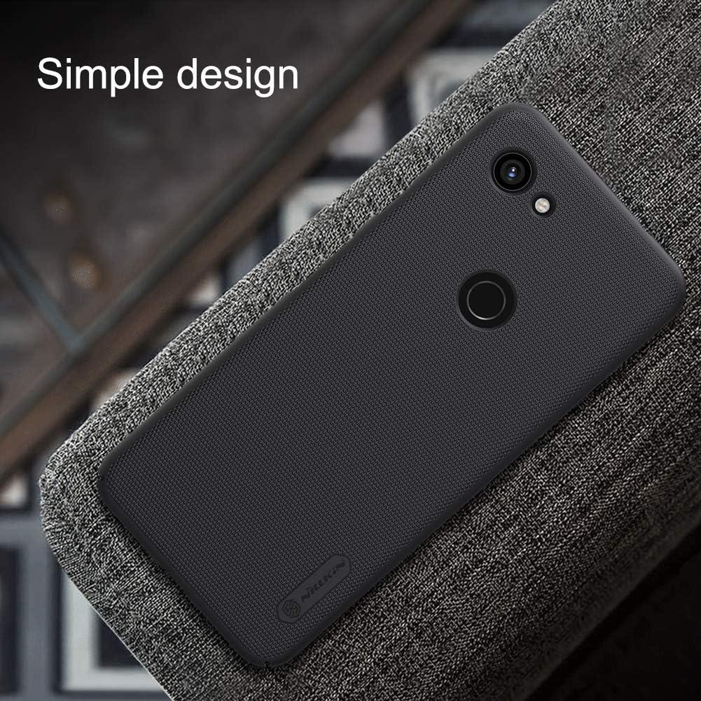 2019 Case,Nillkin Slim Thin Shield Anti Fingerprints Hard Matte PC Case Back Cover with Kickstand for Google Pixel 3a XL Black for Google Pixel 3a XL