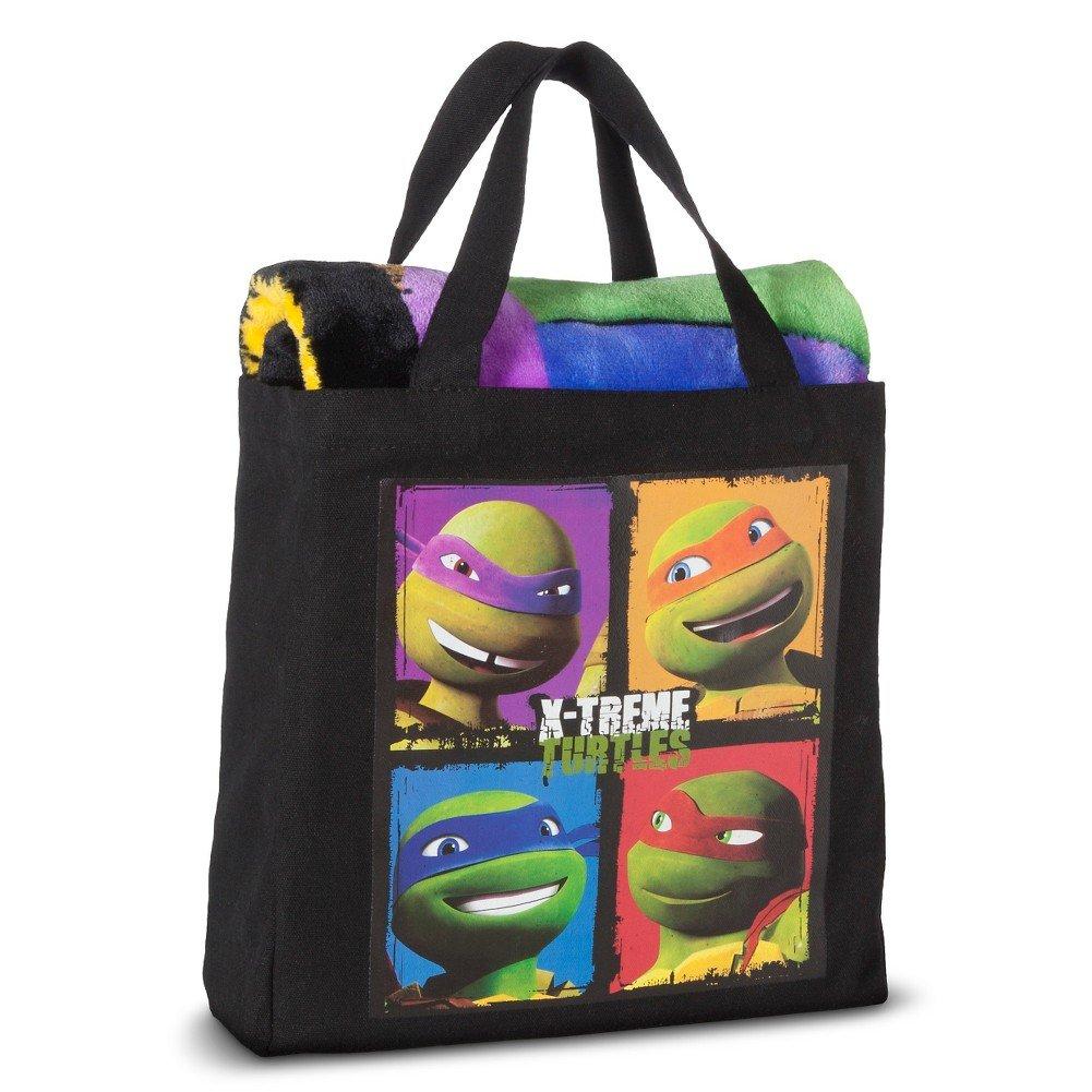 Throw and Canvas Tote Set - Gift Set (Teenage Mutant Ninja Turtles)