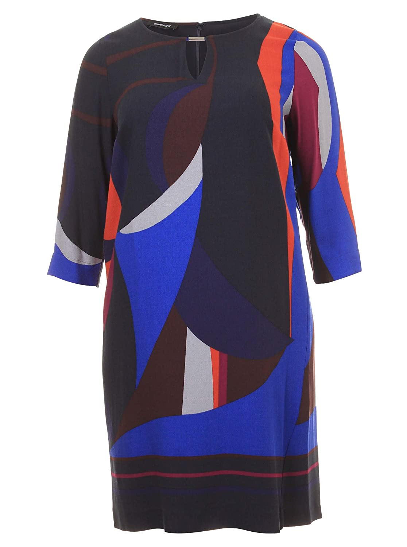 Kleid mit Color-Blocking-Elementen in bunt in Übergrößen (44, 46, 48, 50, 52) von Elena Miro
