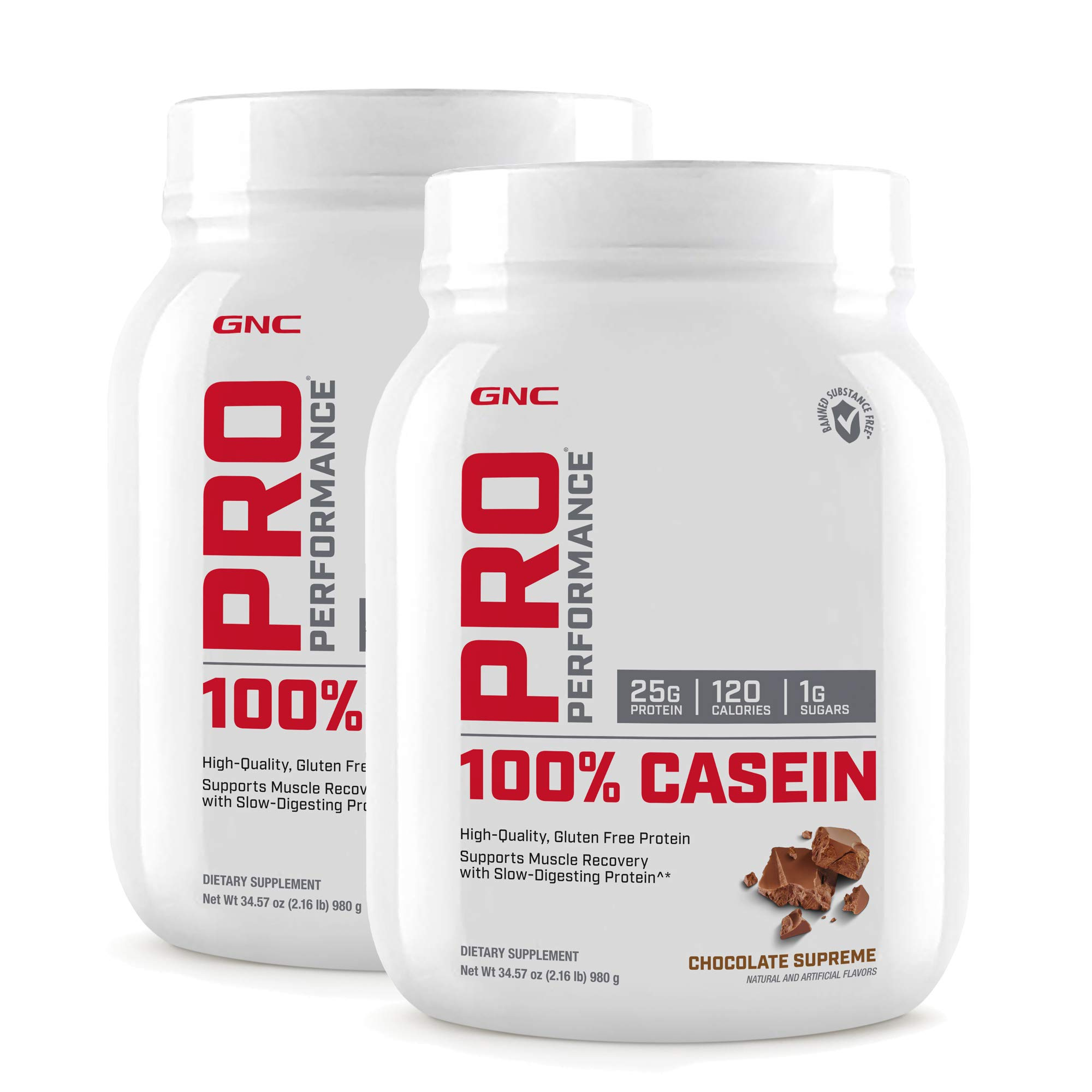 GNC Pro Performance 100 Casein - Chocolate Supreme - Twin Pack by GNC