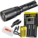 Nitecore Ultimate Bundle SRT7GT 1000 Lumens Smart Ring Tactical Flashlight with Two High Capacity 3500mAh Rechargeable…