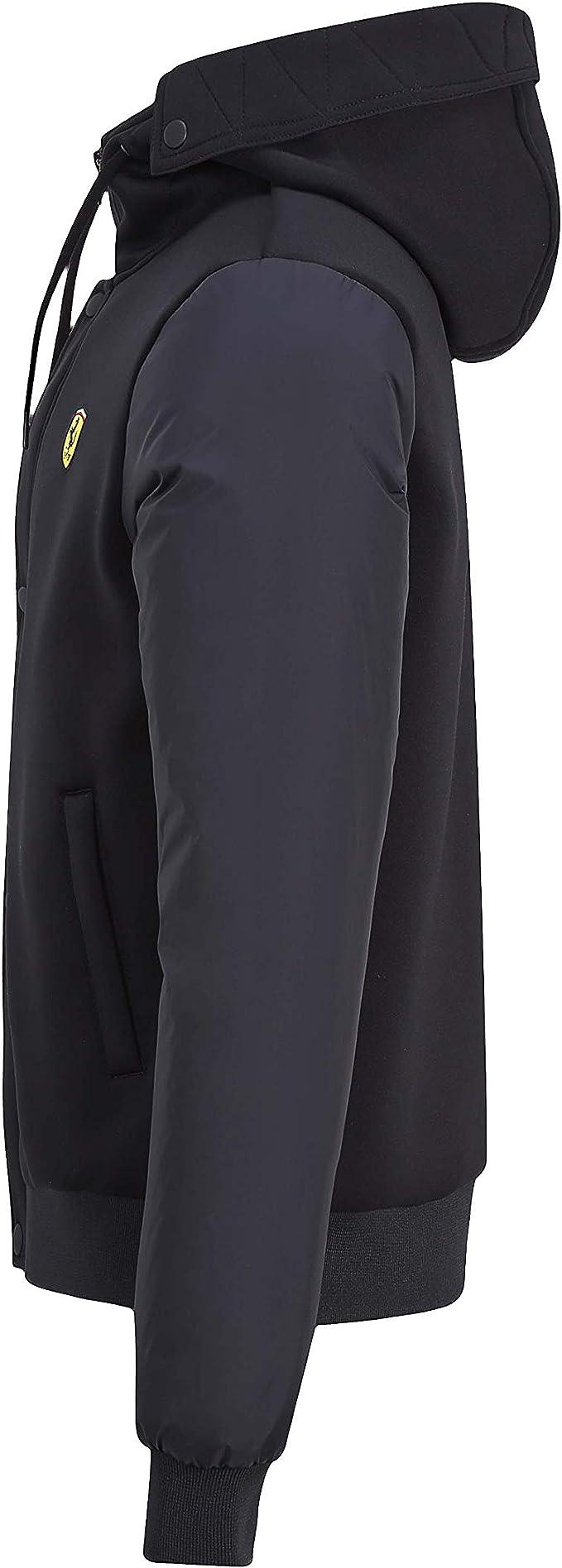 Branded Sports Merchandising B V Scuderia Ferrari F1 Men S Hooded Bomber Jacket Black Bekleidung