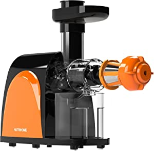 Masticating Juicer, Cold Press Juicer, Slow Juicer Machine with Juice Jug, Pulp Jug and Cleaning Brush, Juicer Juice Extractor for High Nutrient Fruit and Vegetable