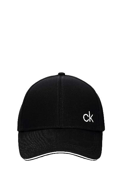 Calvin Klein Contrats Edge Cap, Gorra de béisbol para Hombre, Negro (Black 001