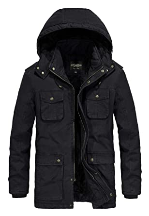 c9bbe86fdd1 JYG Men s Winter Casual Military Parka Jacket with Removable Hood (US M