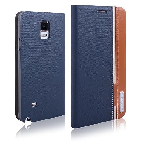c5eb25512f2 PDNCASE Samsung Note 4 Piel Carcasa Case – Funda estilo libro para Samsung  Galaxy Note 4