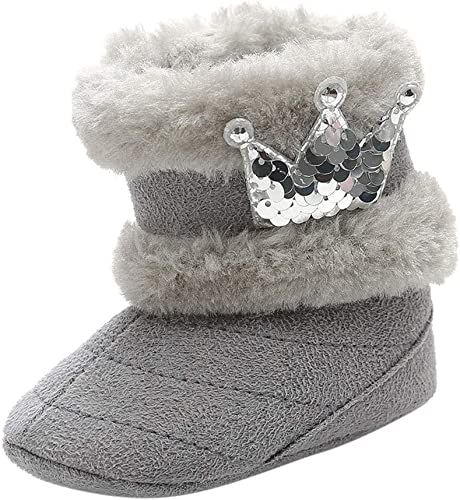 DAY8 Botte Neige Bebe Fille Hiver Chaud Paillettes Chaussure