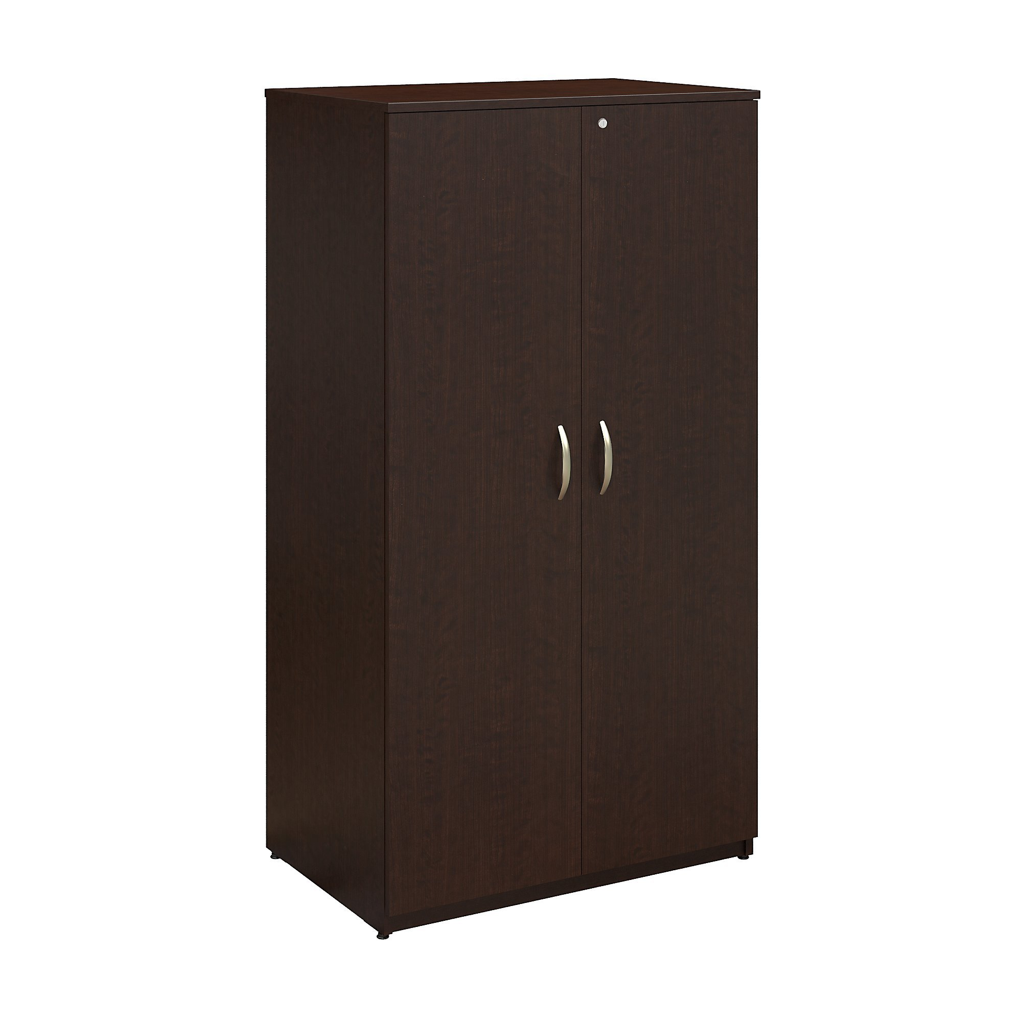 Bush Business Furniture Series C Elite 36W Storage Wardrobe Tower in Mocha Cherry