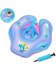 Waitiee Flotadores para bebés Inflable de Piscina Nadar Anillo para Bebe, Flotador ajustable inflable para