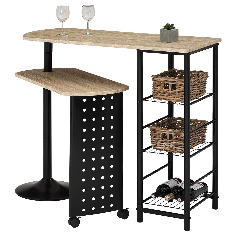 Ablagen Und Schwenkbarem Tisch In Sonoma Eiche Schwarz Mit Regal