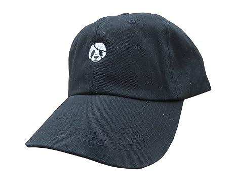 giants baseball panda hat meme black unstructured twill cotton low profile dad cap bear