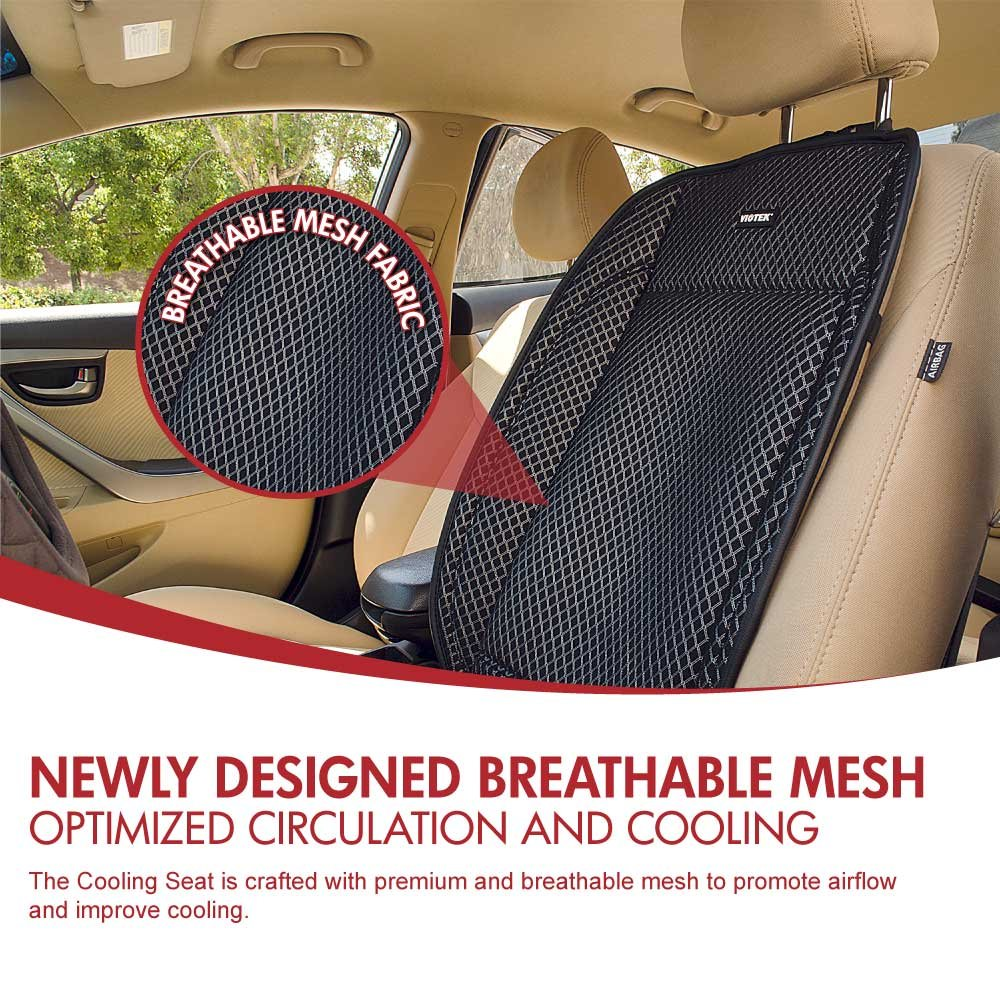 Viotek 5-Level Cooling Office Chair Cushion 12V Car Seat Cover Multipurpose Ventilated Mat with AC//Car Adapter /& Remote; Moisture-Wicking /& Newly Designed Breathable Mesh AC-189