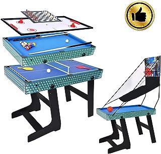 Win.max 5 in 1 Table multijoueurs, Panier, Billard, échecs, Tennis de Table, Table de Hockey sur air échecs