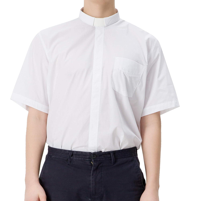 GGS Mens Clergy Shirt Tab Collar Short Sleeves