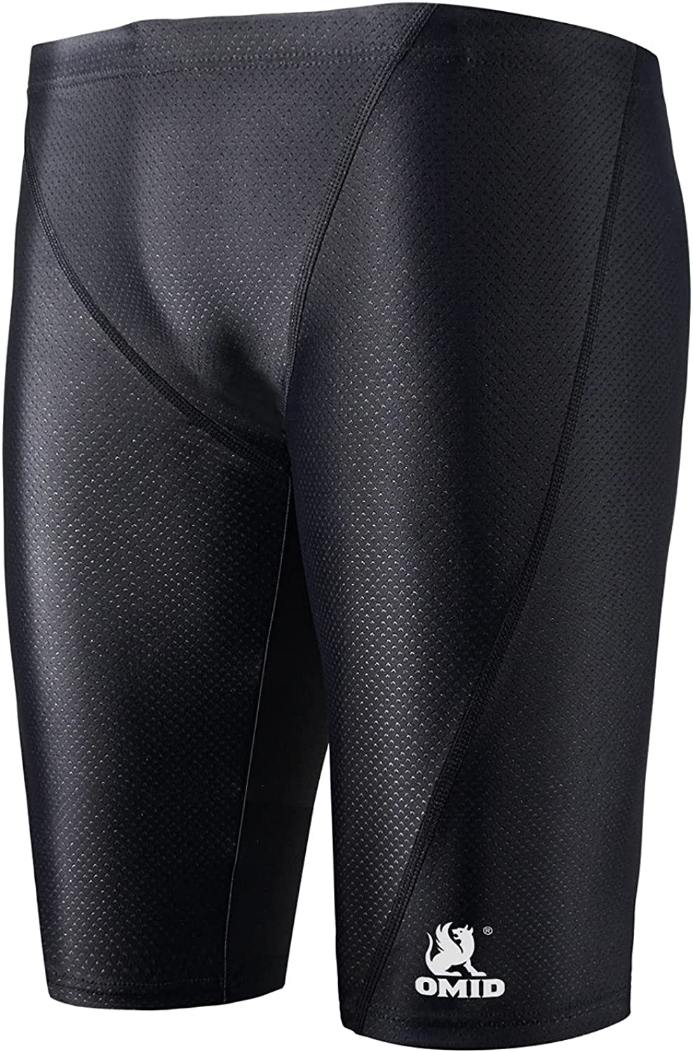 OMID Men's Swimming Jammers Endurance+ Quick Dry Swimsuit Solid Swim Jammers for Men: Clothing