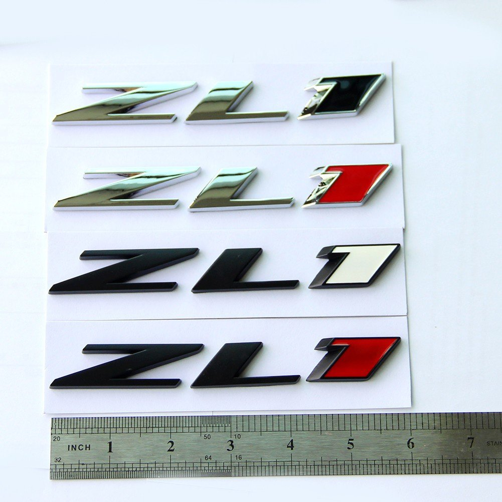 Yoaoo 1 Grille ZL1 Emblem Badge Letter ZL1 Grill Replacement for Camaro SS RS 1 Matte Black Red 68216931