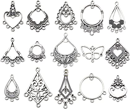 50PCS Bulk Lots Tibetan Silver Christmas Pendants Charms DIY Jewelry Findings RA