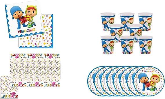 ALMACENESADAN 0462, Pack Desechables Fiesta y Cumpleaños Pocoyo y ...