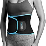 EzyFit Waist Trimmer Premium Weight Loss Ab Belt for Women & Men Exercise Workout. Sweat Enhancer Adjustable Fat Burner Stomach Wrap. Sweet Abdominal Muscle & Back Support Plus Bonus Mesh Bag