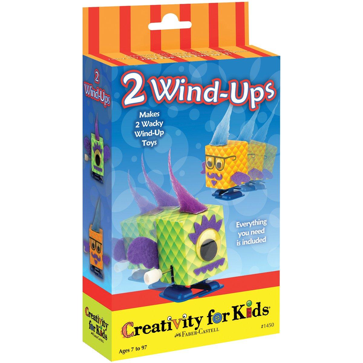 Creativity for Kids CFK1450 - Mini-Bastelset: 2 Aufziehfiguren, Kinder-Bastelset CK-1450