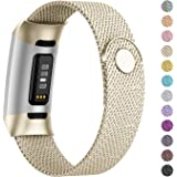 Adepoy Compatible for Fitbit Charge 3/Charge 4 Bands,Replacement Wristbands Compatible for Charge 3 SE Fitness Activity…